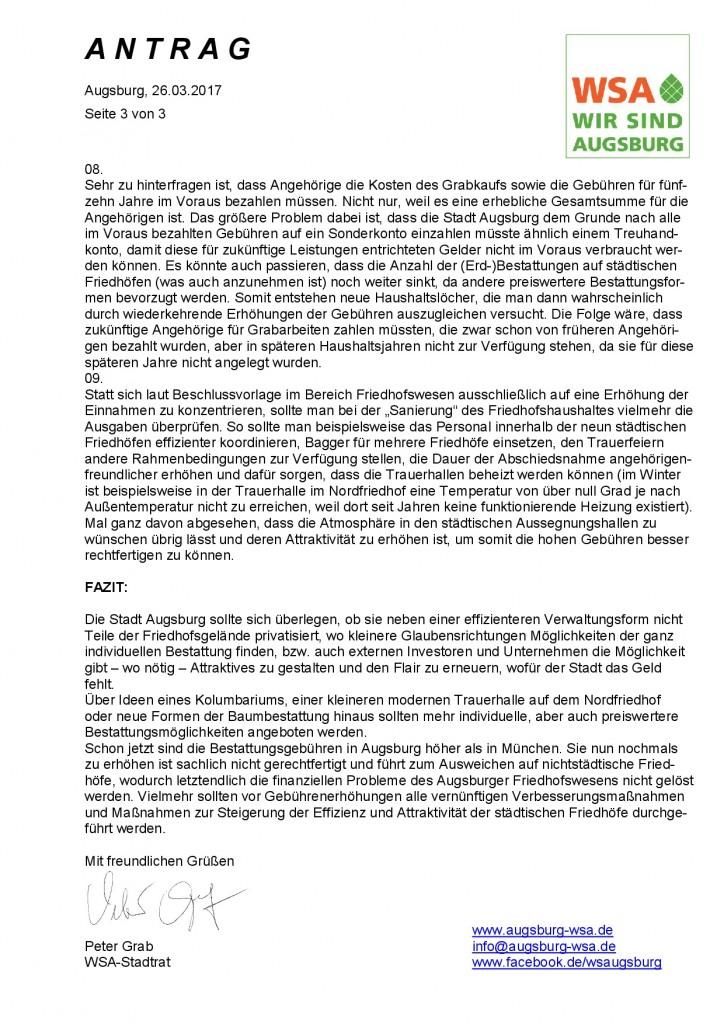 WSA-Antrag vom 30.03.2017 zur geplanten Erhöhung der Bestattungskosten^J Seite 3