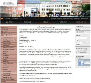 10 Eisenach - HP Antikorruptionsbeauftragte