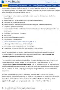 15 München - Kampf gegen Korruption - Maßnahmenbündel