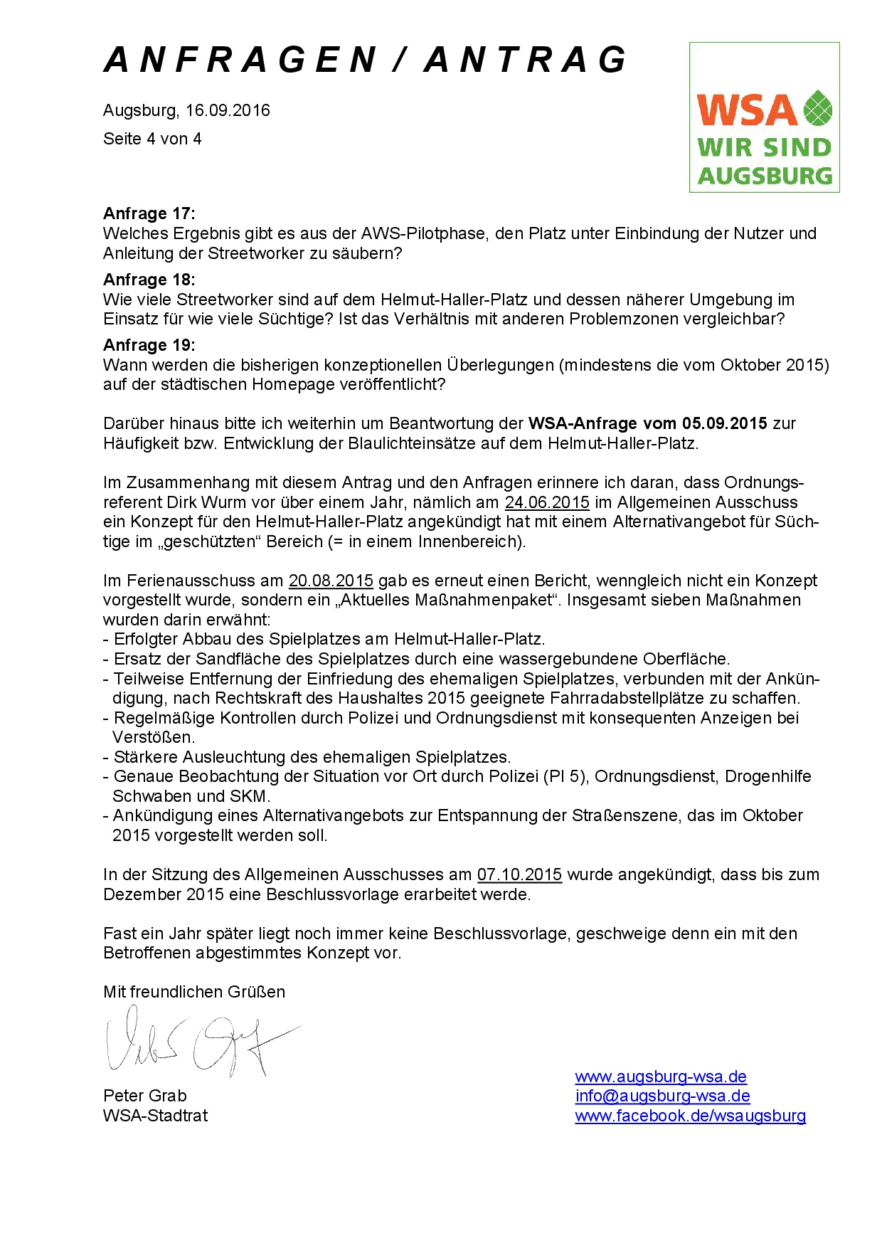 WSA-Antrag und -Anfragen vom 16.09.2016 zum Helmut-Haller-Platz, Seite 4